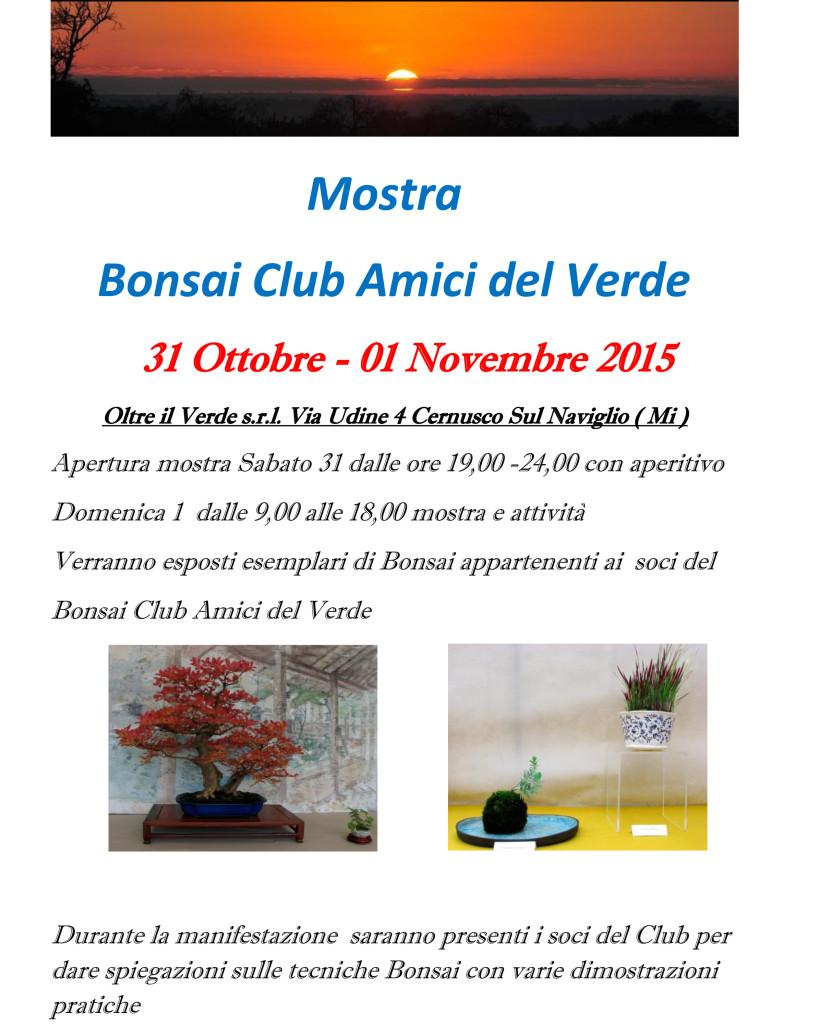 Bonsai Club Amici del Verde locandina